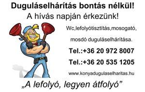 Duguláselhárítás Budapest Pest megye